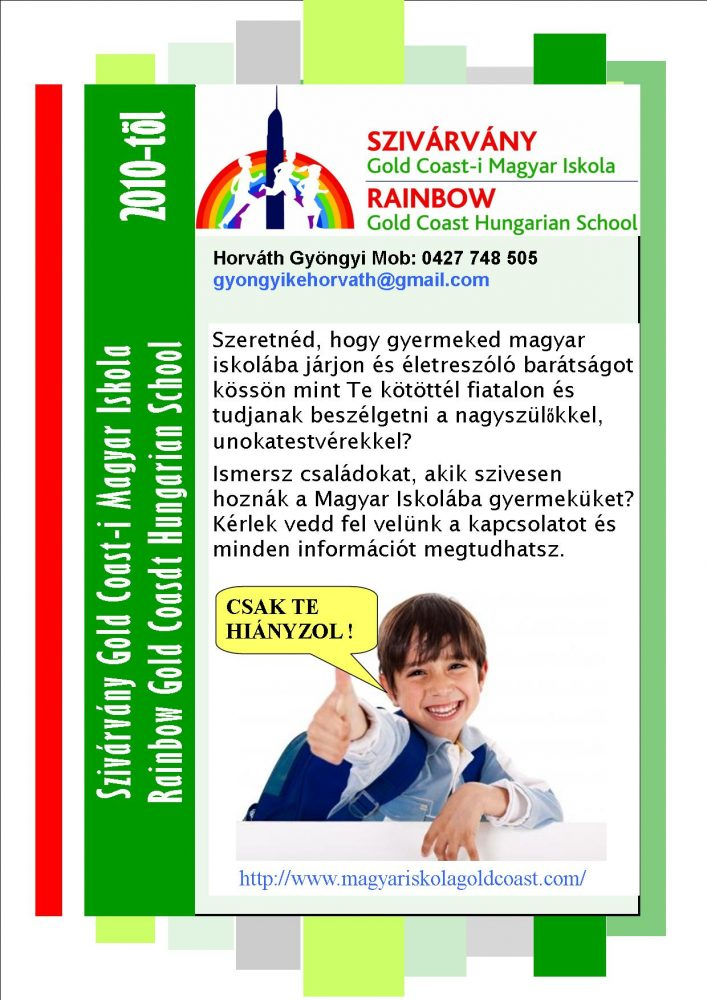Hungarian Rainbow School Term1 2020